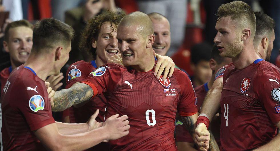 Ondrasek anotó el gol de la victoria en el triunfo de República Checa sobre Inglaterra. (Foto: AFP)