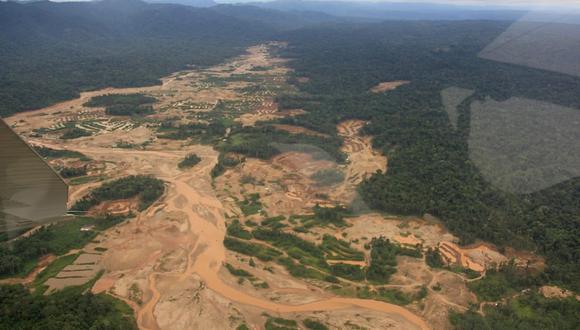 La minería ilegal en Madre de Dios es un problema ambiental y de salud en el departamento. Foto: Mininter