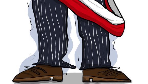 """""""Quizá la frase 'no más pobres en un país rico' que el presidente repitió todos los días durante la campaña electoral jamás buscó concentrarse en la eliminación de la pobreza. Más bien, a lo que pareciera apuntar Pedro Castillo ahora es a borrar el rastro de lo que ha sido hasta ahora un país rico"""" (Ilustración: Giovanni Tazza)"""