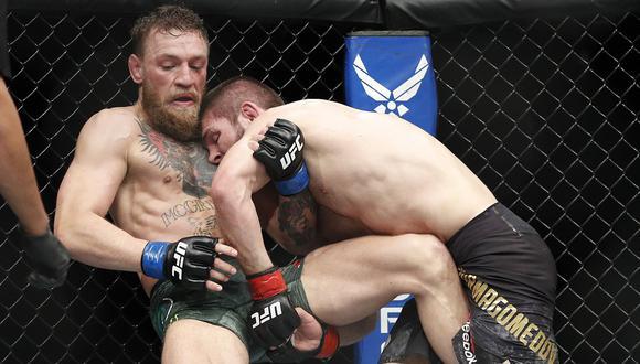"""McGregor vs. Khabib: """"Esto no es lo que somos"""", la crítica del presidente de la UFC tras escandaloso final. (Foto: AFP)"""