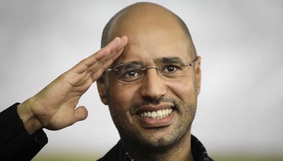 Durante las revueltas contra la dictadura de su padre, que estallaron en Libia en febrero del 2011, reprimió la revolución, causando más de 10.000 muertos. (Foto: AP)