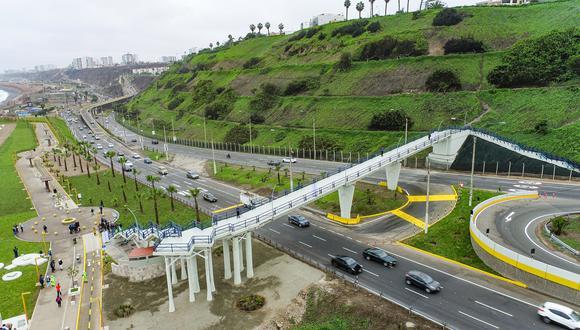 Ambas estructuras peatonales en la Costa Verde se encontraban inconclusas desde el 2015 y fueron habilitados por Emape (Foto: Municipalidad de Lima)