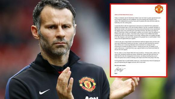 Ryan Giggs se despidió como jugador del United con esta carta
