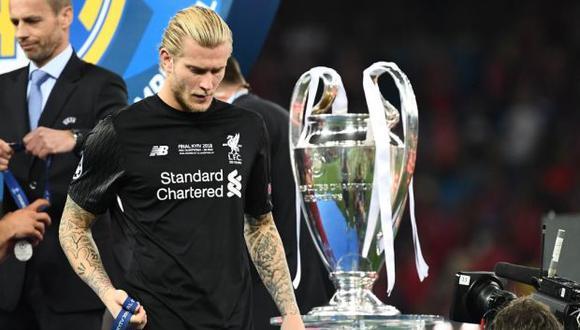 Loris Karius en su pasado con el Liverpool. (Foto: AFP)