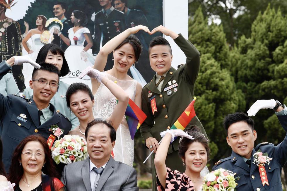 """Taiwán   Wang Yi   Meng Yumi   Un """"sí, quiero"""" histórico: Así fue la primera  boda homosexual en el ejército   País China   FOTOS   VIDEO NNDC   MUNDO    EL COMERCIO PERÚ"""