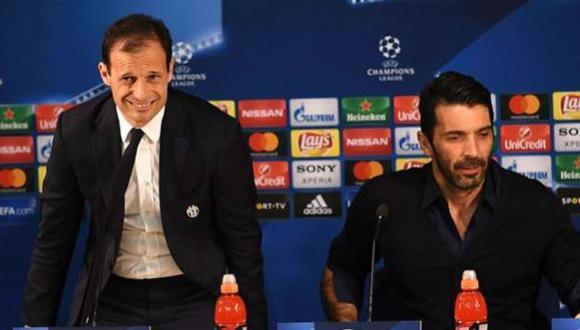 Buffon felicitó a Allegri por su planteamiento ante Mónaco