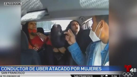 El conductor de Uber Subhakar Khadka, de 32 años, fue atacado en el área del Bayview District, San Francisco después de que recogió a tres mujeres. (Captura de video/Telemundo).