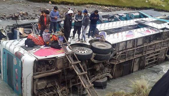 El fatal accidente se registró en la ruta de Puerto Maldonado a Cusco, en el distrito de Ocongate, en Quispicanchi. (Foto: Constantino Quispe Jancco)