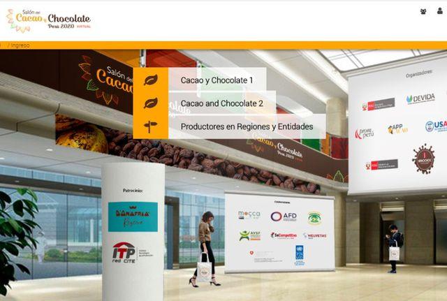 Luego de activar su ingreso, podrá ingresar a los siete pabellones disponibles en la plataforma. (Foto: Salón del Cacao y Chocolate)