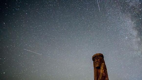El cielo nocturno se ilumina con las Perseidas. (Foto: Getty Images)