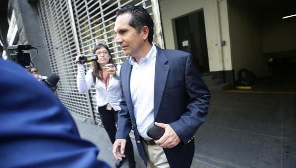 Gonzalo Andrade Nicoli, presidente del grupo Trafigura, declaró ayer ante el despacho del fiscal José Domingo Pérez por la investigación que se sigue a Keiko Fujimori. (Jesús Saucedo / GEC)
