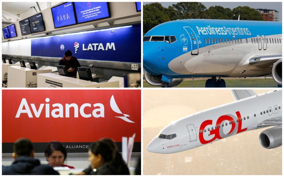 Conoce los ingresos operativos de las aerolíneas latinoamericanas durante el 2019. (Fotos: AFP/Gol)