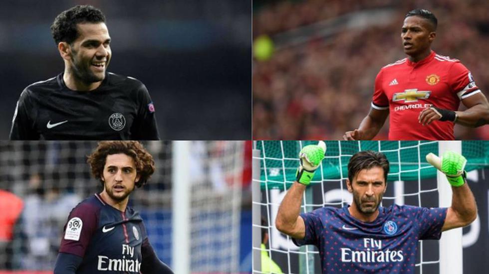 Dani Álves, Gianluigi Buffon, Diego Godín y estos jugadores quedarán libres en el 2019. (Foto: AFP).