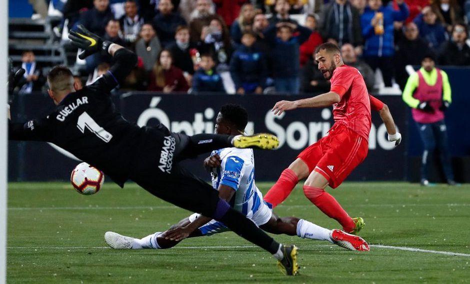 Real Madrid vs. Leganés EN VIVO: Benzema consiguió el 1-1 aprovechando un rebote por Liga española   VIDEO. (Video: YouTube/Foto: AFP)
