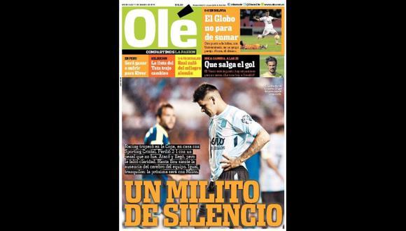 Cristal: ¿Qué dice prensa argentina sobre triunfo ante Racing?