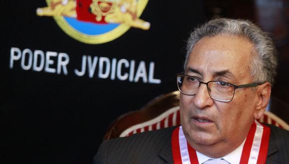 El presidente del Poder Judicial, José Luis Lecaros, también recordó que alguien con sanción administrativa no podía integrar la JNJ. (Foto: Andina)