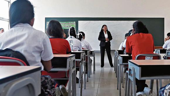 """""""Los colegios deben aplicar a los préstamos de Reactiva Perú y a los subsidios estatales a la planilla"""". (Foto referencial: El Comercio)."""