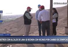 Lurín: alcalde de Lima se reunió con ministros de Cultura, Vivienda y del Ambiente por cambio de zonificación