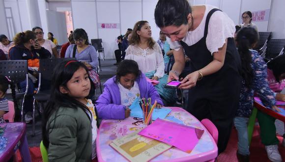 Talleres para que los niños exploren toda su creatividad. (Foto: Feria del Libro Ricardo Palma)