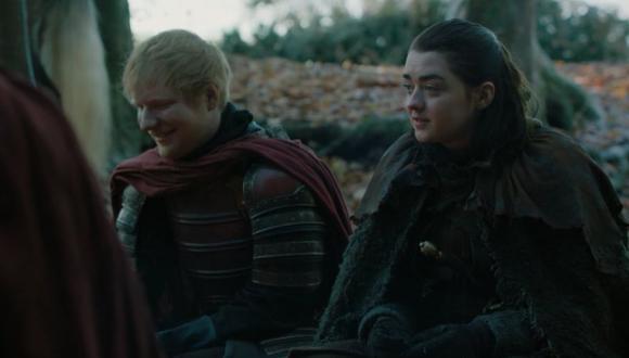 Ed Sheeran realiza un cameo en el primer episodio de Game of Thrones. (Captura: Twitter)
