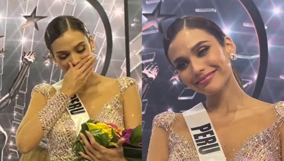 Las lágrimas de Janick Maceta al ser elegida segunda finalista del Miss Universo. (Fotos: oliviaquido en Instagram(