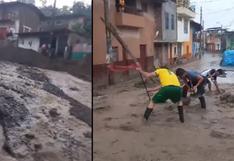 Piura: intensa lluvia causa daños en viviendas y trochas de Huancabamba