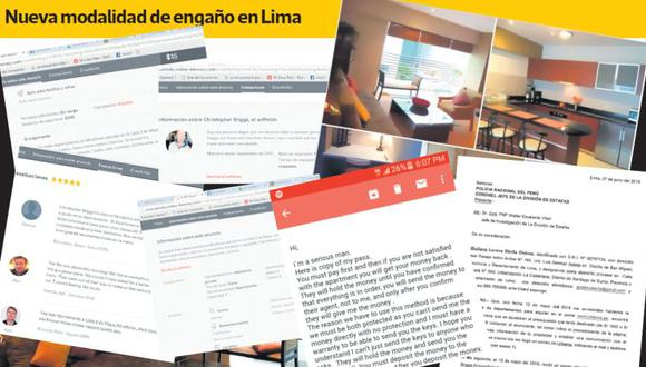 Nueva modalidad de estafa inmobiliaria en Lima. Falta de fiscalía especializada en delitos informáticos complica la investigación.(El Comercio)