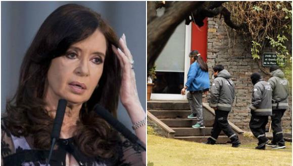 Allanan por segundo día la casa de Cristina por caso de los cuadernos de las coimas. (Foto: Agencia/La Nación, GDA)