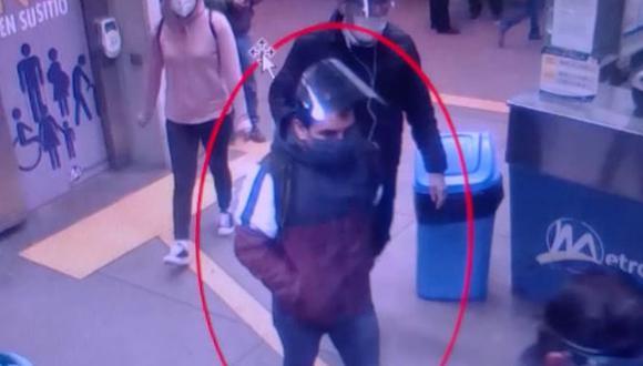 Las cámaras de seguridad del Metropolitano ayudaron a identificar a Edmundo Amao Sayas.