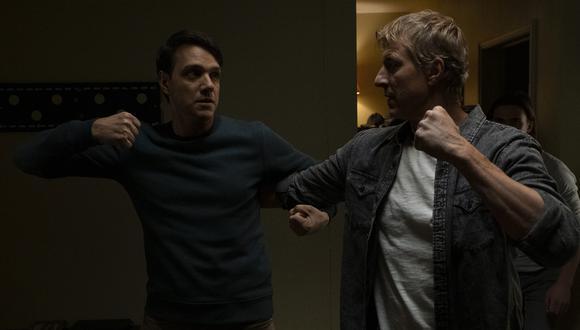 "Ralph Macchio y William Zabka en ""Cobra Kai"". (Foto: Netflix/ Difusión)"