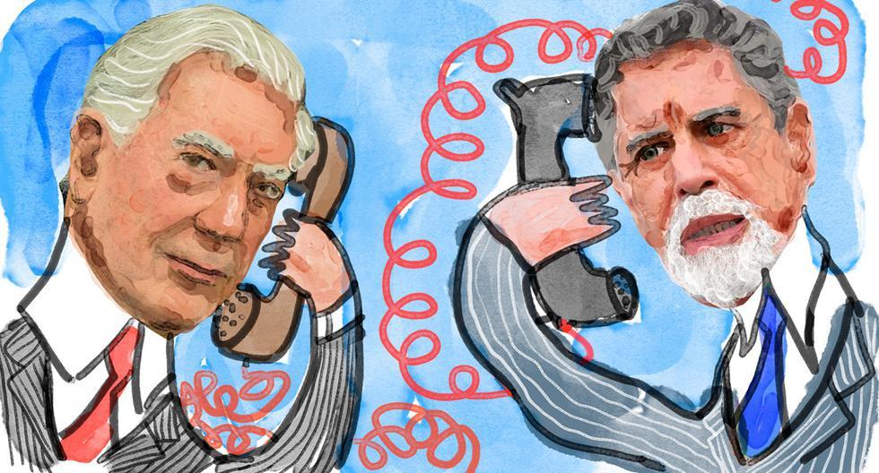 La filtración de la comunicación entre Francisco Sagasti y Mario Vargas Llosa contribuyó a hacer más tenso el clima electoral a lo largo de esta semana. (Ilustración: Giovanni Tazza / El Comercio)