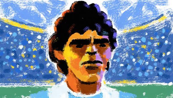 Diego Armando Maradona (1960-2020). (ILUSTRACIÓN:  ilustración de Victor Aguilar.)