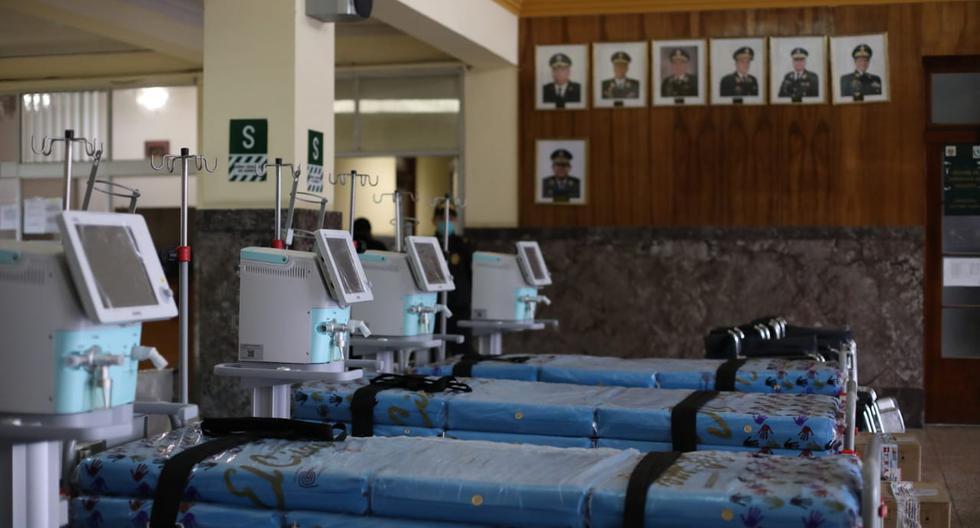 El Minsa entregó de donaciones a la Policía Nacional del Perú (PNP). (Foto: Britanie Arroyo/GEC)