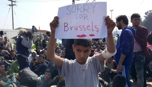 """Lo siento por Bruselas"", mensaje de un niño refugiado al mundo"