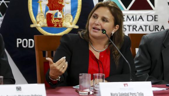 Marisol Pérez Tello participó en la sesión del Acuerdo Nacional por la Justicia. (Foto: Minjus)