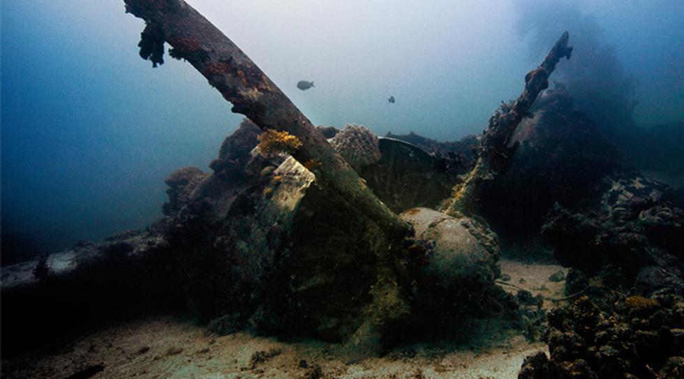 Conoce Chuuk y su enorme flota sumergida de barcos japoneses  - 1