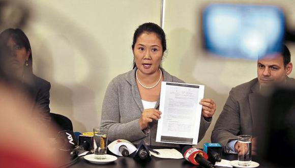 Keiko Fujimori cuestionó pedido de prisión preventiva solicitado ayer en su contra. (Foto: Hugo Pérez/El Comercio)