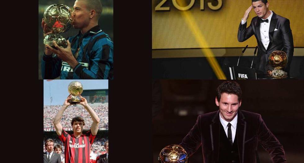 Los ganadores del Balón de Oro que no salieron de la final de Champions League. (Foto: AFP)