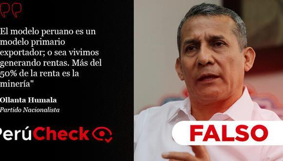 PerúCheck. La afirmación del candidato presidencial y líder del Partido Nacionalista fue sometida a fact checking.