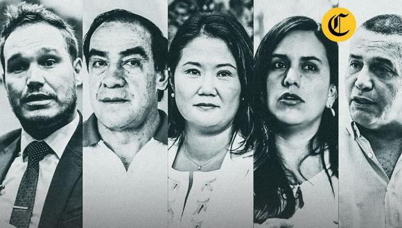 George Forsyth, Yonhy Lescano, Keiko Fujimori, Verónika Mendoza y Daniel Urresti participan este martes del debate organizado por El Comercio e IDEA Internacional. (Imagen: El Comercio)