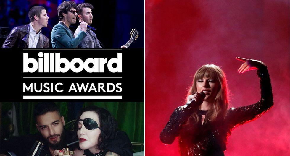 Los Jonas Brothers, Maluma junto a Madonna y Taylor Swift serán parte de los Billboard Music Awards 2019. (Fotos: Agencias)
