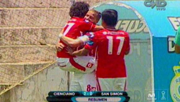 Torneo Clausura: Cienciano venció 2-0 a San Simón en el Cusco