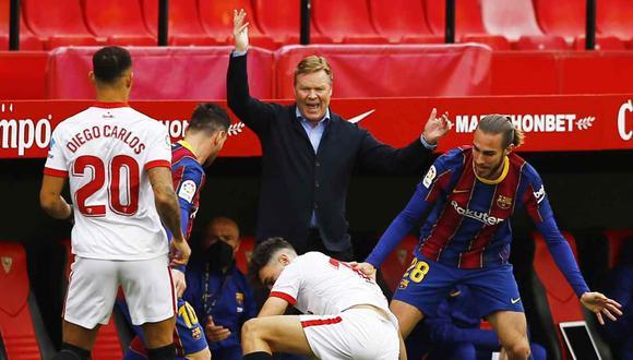 Ronald Koeman piensa en el Barcelona-Sevilla de la semana entrante por Copa del Rey. (Foto: Reuters)