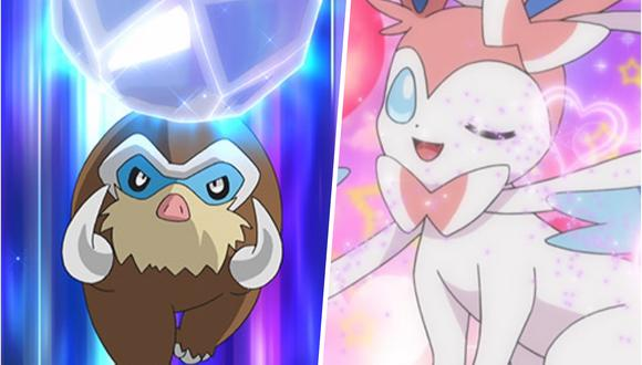 Mamoswine y Sylveon serán jugables próximamente en Pokémon Unite. (Imagen: Pokémon Company)