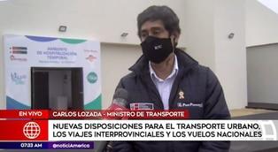 Ministro Lozada detalla las nuevas disposiciones para el transporte urbano
