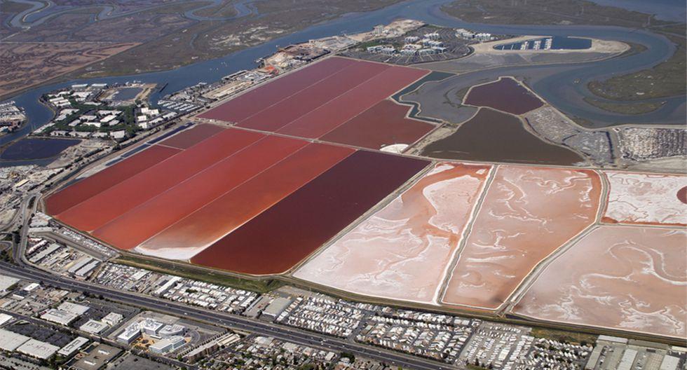 Colores desde el cielo: Conoce la poza de sal de San Francisco - 6