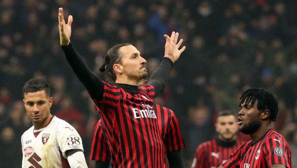 Zlatan Ibrahimovic podría volver a jugar este miércoles en la visita del AC Milan al Spal de Ferrara| Foto: EFE