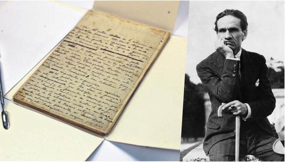 """Manuscrito del libro """"Rusia ante el Segundo Plan Quinquenal""""  por el poeta César Vallejo. (Foto: Rolly Reyna / El Comercio)"""