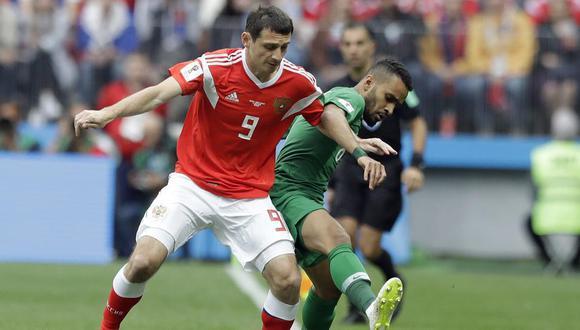 MisterChip informó que la sustitución de Dzagoev es la más tempranera en un partido inaugural, en toda la historia de la Copa del Mundo. (Foto: AP)