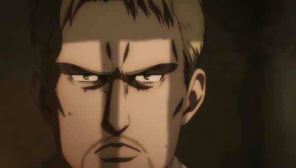 "Reiner Braun (Yoshimasa Hosoya) es quien sostiene el drama en ""Attack On Titan"" 4x03. Foto: Crunchyroll."